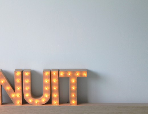 Marquee letter DIY lamp