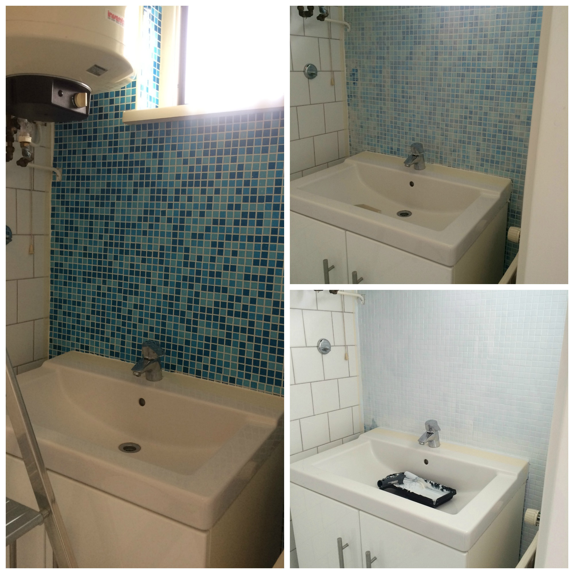 April recap: bathroom renovation collage - http://weirdatheart.com/april-recap/